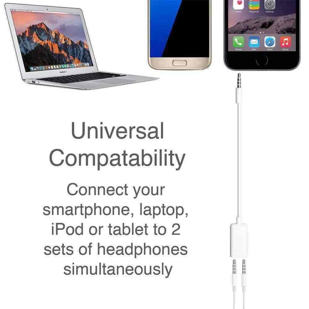 Jack 3.5mm do podwójny 3.5mm kabel męski na żeński kable Audio przejściówka rozgałęziająca dwóch kochanków wtyczki Stereo słuchawka do iPhone'a samsung