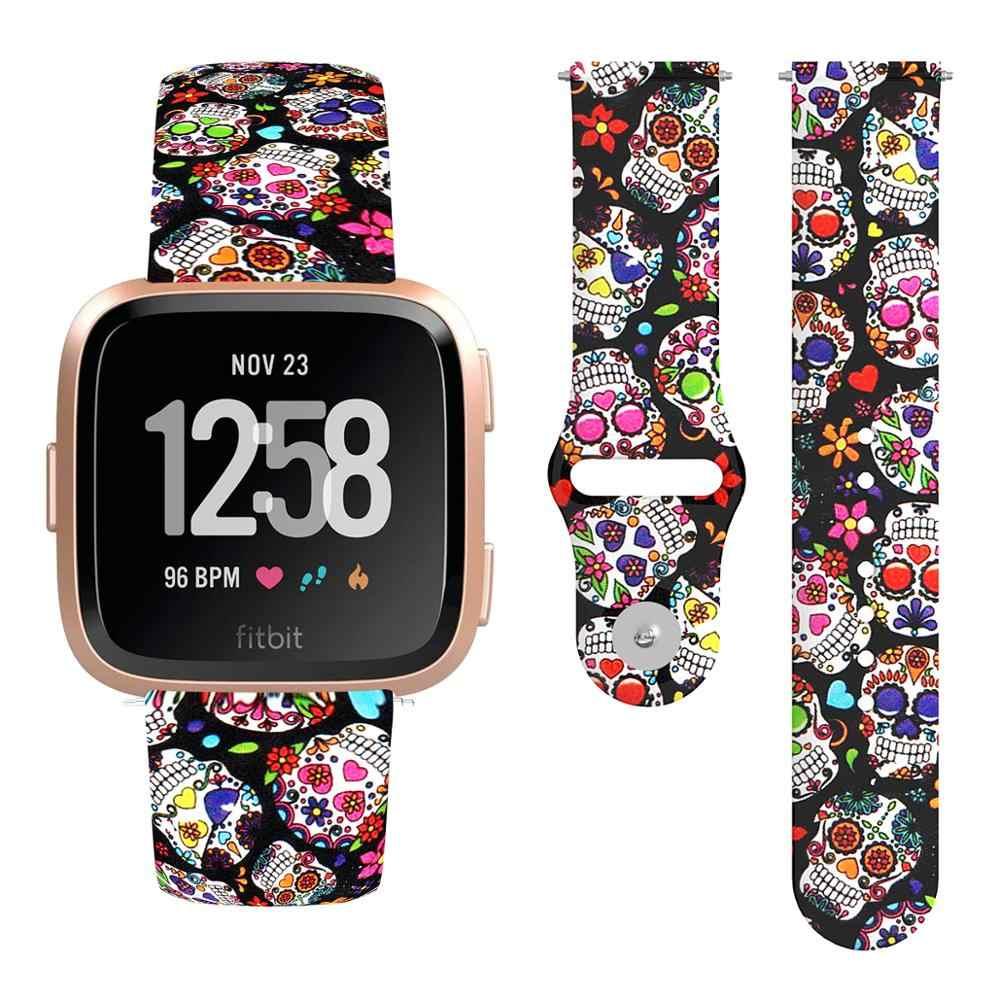 Deporte estampado de banda de reloj para Fitbit viceversa 2 silicona correa de repuesto para pulsera de Fitbit viceversa/viceversa Lite accesorios de la pulsera
