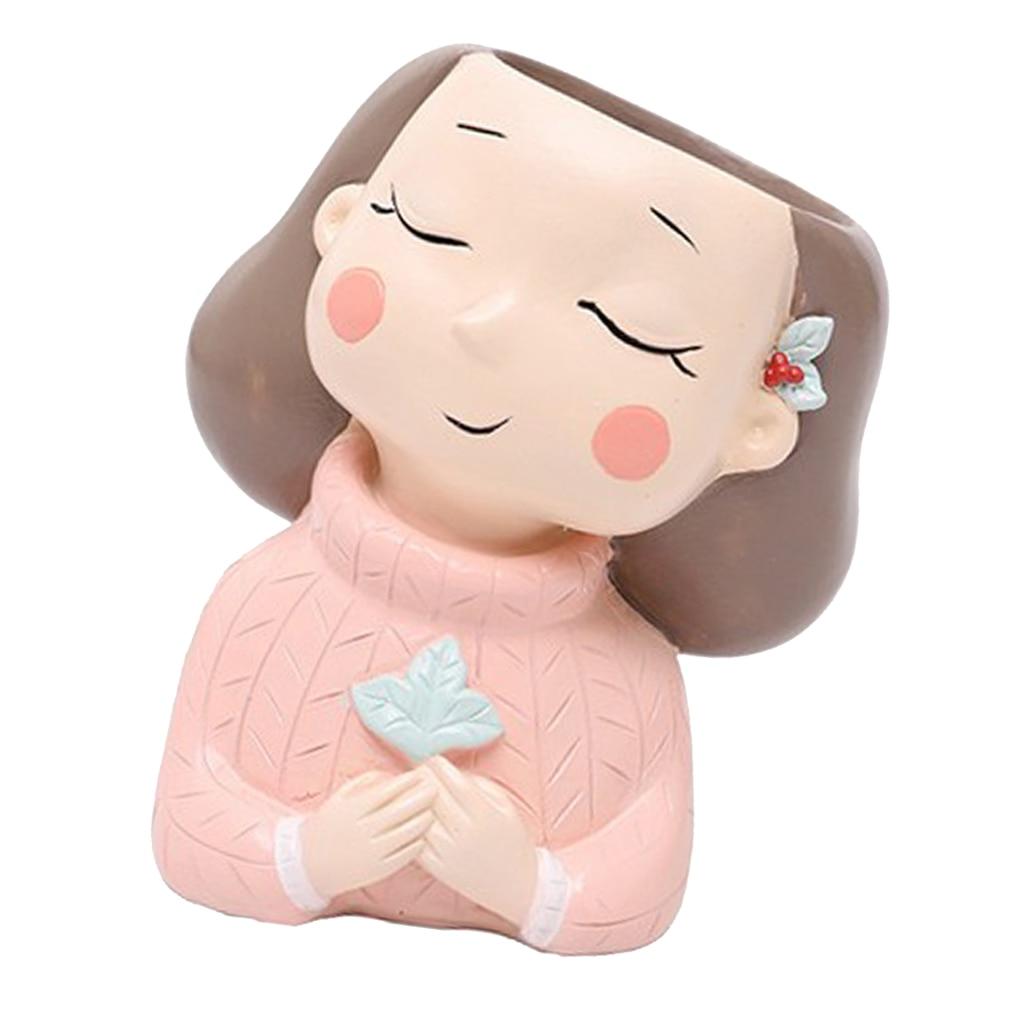 Смола цветочный горшок кактус суккулент кашпо горшок ваза рабочий стол орнамент фигурки валентинка подарок подарок
