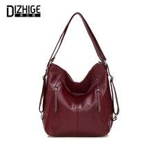 DIZHIGE Brand Luxury Soft PU Women Handbag High Quality Crossbody Bag For Vintage Large Capacity Multifunction Female