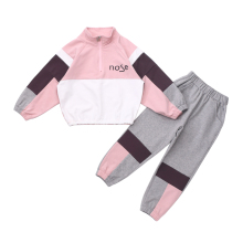 Girls Sets Spring and Autumn Children Splice Full Sleeve Sweatshirt+Long Shorts 2pcs Kids Suit Fashion Sport Children Clothes