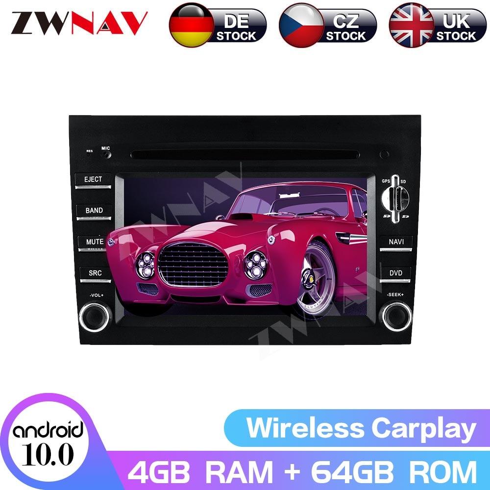 Купить 2din android 80 4g ram автомобильный gps для porsche 911 997