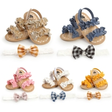 Fashion Sandals Baby-Girls First-Walkers Princess-Shoes Soft-Sole Summer Non-Slip Flat