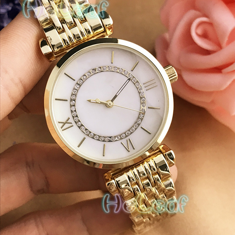 Luxury Fashion Women Watches Silver Gold Round Stainless Steel Band Quartz Watch MANI Female Girls Clock MontreFemme Reloj Mujer