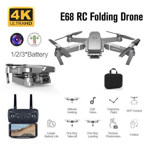 e68 zangao dobravel com 4 k camera fpv drones quatro canais 6 axis giroscopio gesto