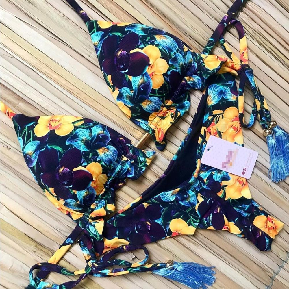 Summer Sexy Bikini Set Vintage Bandage Push Up High Waist Swim Wear Bathing Suit Women Swimsuit Biquini Brazilian Bikinis