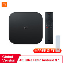 Global Version Xiaomi Mi TV Box S Android 8.1 2GB RAM 8GB ROM Smart TV Set top Box 4K QuadCore HDMI WiFi Mali 450 1000Mbp Player(China)