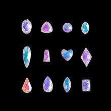 100 шт/пакет ногтей с украшением в виде кристаллов алмаза Стразы