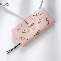Fashion Wallet Women 2020 Wallet Gold Hollow Leaves Long Purse Female Walets Women Pouch Purse Women Card Holders Money Pocket