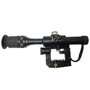 Image 3 - 4x24 PSO סוג Riflescope טקטי אדום מואר זכוכית חרוט Reticle היקף עבור דרגונוב SVD צלף AK 47 Sight רובה