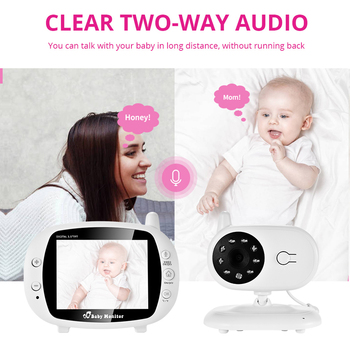 3.5 inch Video Wireless Baby Monitor VOX Security Camera Nanny IR Night Vision Voice Call Babyphone With Temperature Monitoring 1