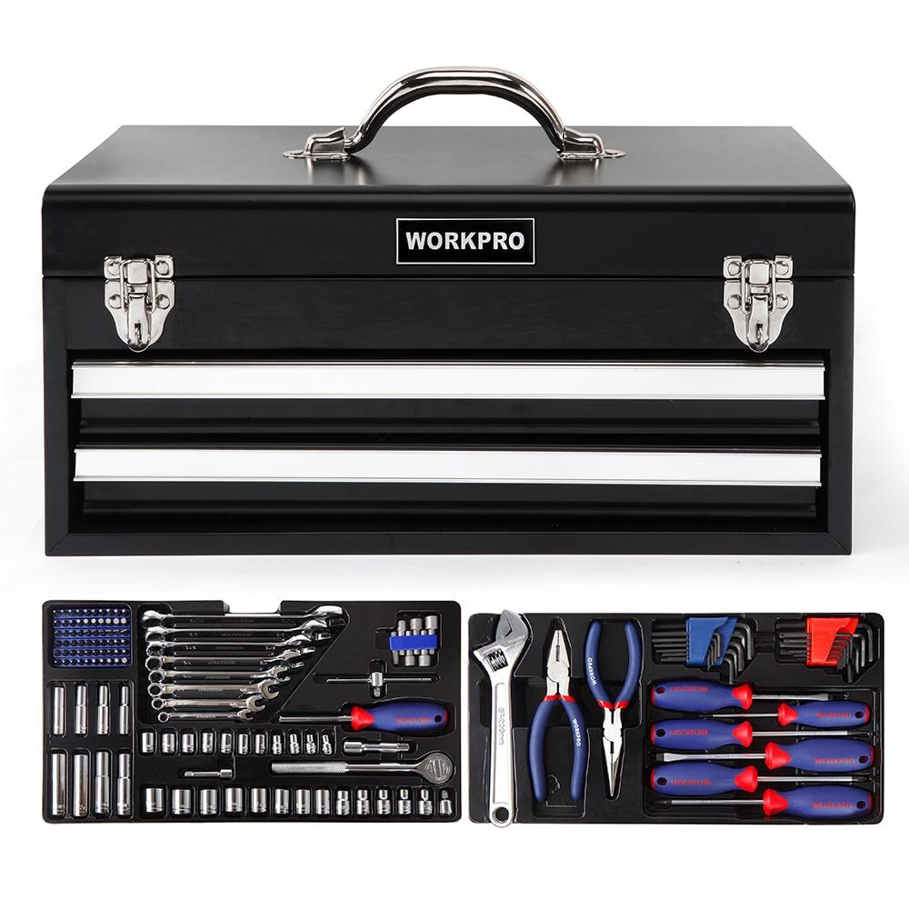 Tool Repairing Metal WORKPRO Tool Tool Set Set Home 239PC Kits Mechanic Box Tool