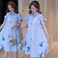 Buy 2019 summer new Pregnant Dresses Pregnant Shirt Skirt large size Maternity Breastfeeding Dress Women Clothes Pregnancy Dresses directly from merchant!