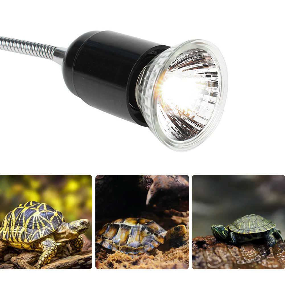Reptile lamp set high temperature and safety convenient turtle drying backlight UVA/UVB lamp holder for reptile heating lamp