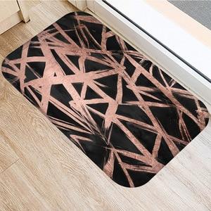 Image 4 - 40*60cm חום פס החלקה זמש שטיח מחצלת דלת חיצוני מטבח סלון שטיח רצפת בית שינה דקורטיבי רצפת מחצלת.