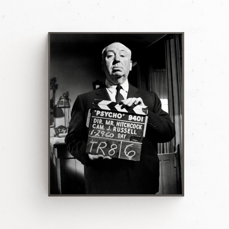Alfred Hitchcock poster movie star Art Silk Poster Wall Decor 12x18 24x36Inch image