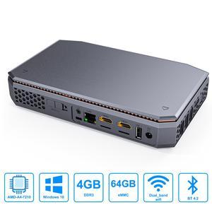 Image 2 - T12 AMD A4 7210 windows10 mini pc LPDDR3 8G 64G support SSD HDD 1000M lan BT4.2 windows 10 mini computer