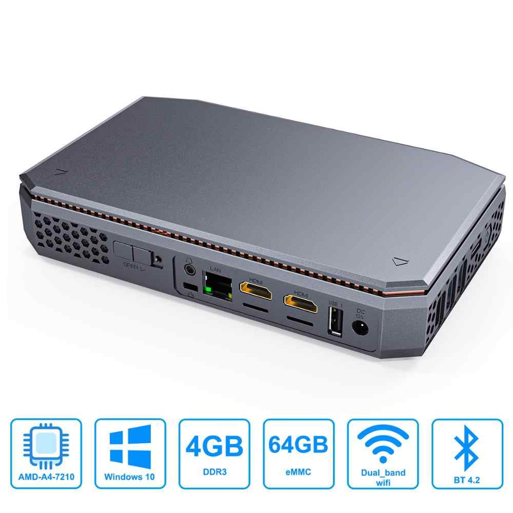 T12 Cpu Amd A4 7210 Windows10 Mini Pc Ddr3l 8g Ssd 128gb Support 2 5inch Hdd 1000m Lan Bt4 2 Windows 10 Mini Computer Mini Pc Aliexpress