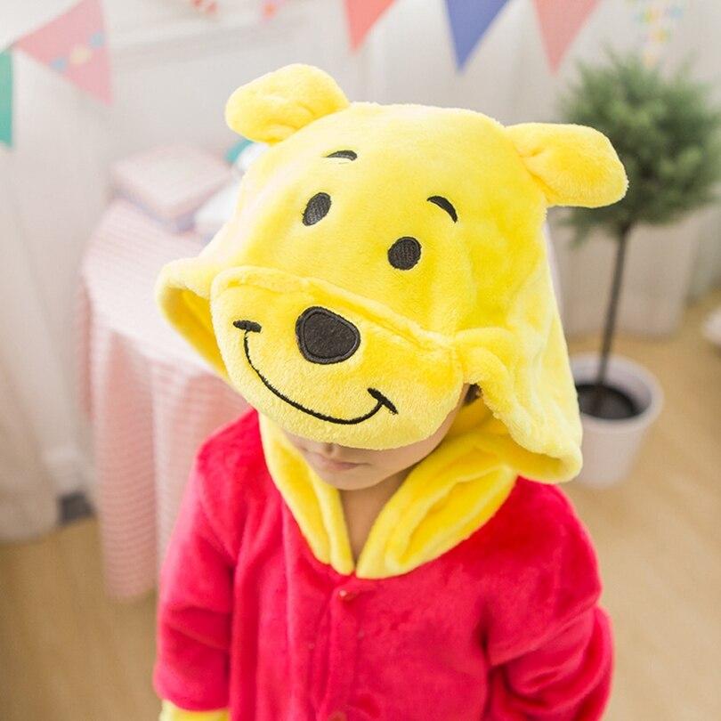 Kigurumi Pijama Winnie Urso Para Crianças Meninas Do Bebê Pijamas Menino Pijamas Animais Anime Onesie Crianças Traje Macacão