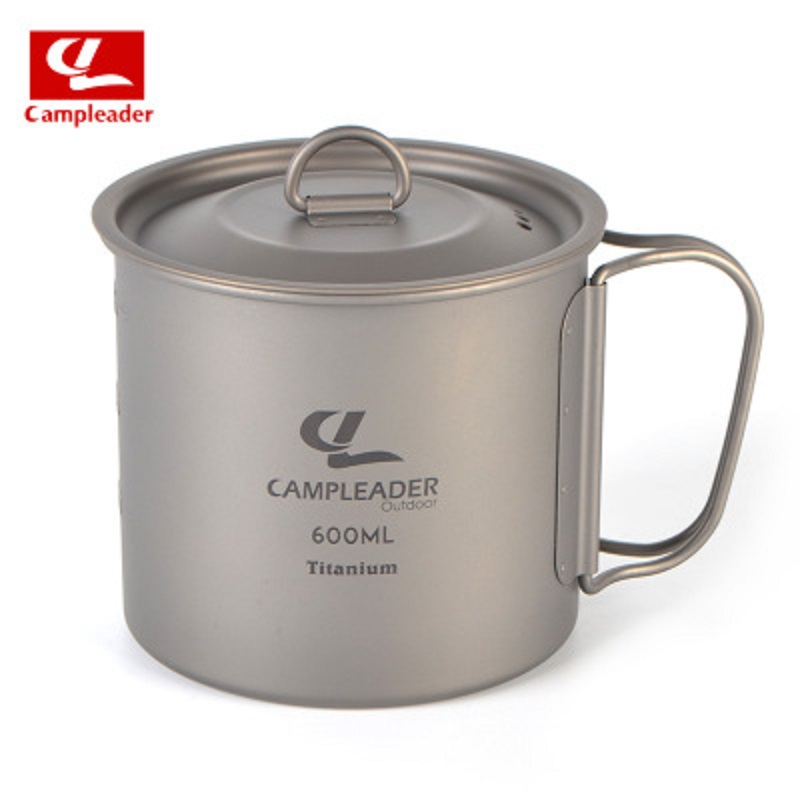 Campleader Outdoor Cup Camping Tableware Titanium Foldable Cup 250/450/600 Ml Picnic Water Cup Outdoor Pot Titanium Mug