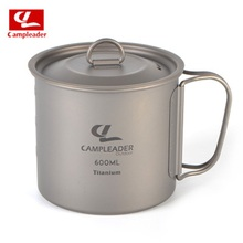 Campleader Outdoor Cup Camping Tableware Titanium Foldable 250/450/600 ml Picnic Water Pot Mug