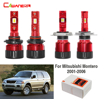 Cawanerl 4 X Car LED Headlight Hi/Lo Beam Fog Light White 60W 9000LM 12V For Mitsubishi Montero 2001 2002 2003 2004 2005 2006