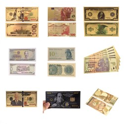 1 шт. Позолоченные банкноты, античная Черная Золотая фольга, 100 долларов США, памятные банкноты, Декор, поддельные деньги, заготовка евро