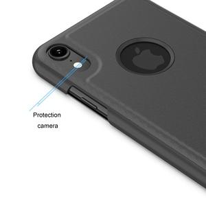 Image 5 - กระจกกรณีพลิกสำหรับ iphone 5s 5 se Clear view ฝาครอบ iphone 6 6s 7 8 plus สำหรับ iphone XR Xsmax ป้องกัน
