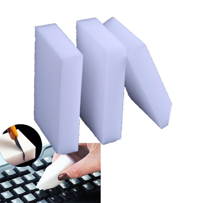 10Pcs White Magic Sponge Eraser Keyboard Cleaning Melamine Foam Cleaner Pad Accessories Clean Tools