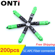 ONTi 200 Pieces SC APC Fiber Optical Connector 55m