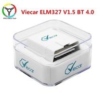 Viecar elm327 v1.5 bluetooth 4.0 obd2 ferramenta de diagnóstico do carro elm 327 1.5 obdii j1850 obd carros scanner para ios android windows