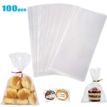 Прозрачный целлофановый пакет Opp пластиковые пакеты для конфет, леденцов, печенья, упаковка для свадебной вечеринки, подарочная сумка