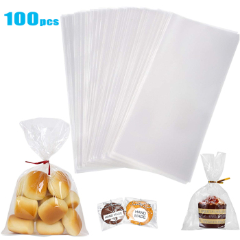 Clear Cellophane Opp Plastic Bags for Candy Lollipop Cookie package storage Bag Wedding Party Gift cello poly bags image