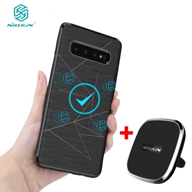 สำหรับ Samsung S10 Capa NILLKIN Qi Wireless Charger Pad & Magic Case สำหรับ Samsung S9 S9 + S8 S8 + สำหรับ Samsung S10 + Coque