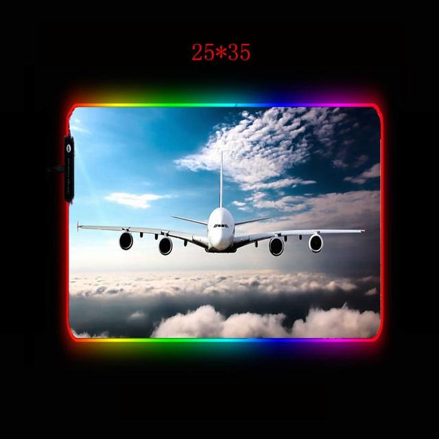 mairuige самолет в облаках большой светодиодный rgb освещение фотография