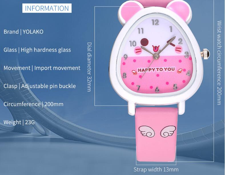 Fashion Cartoon Earth Mouse Children Watch Cute Korean Student Watch