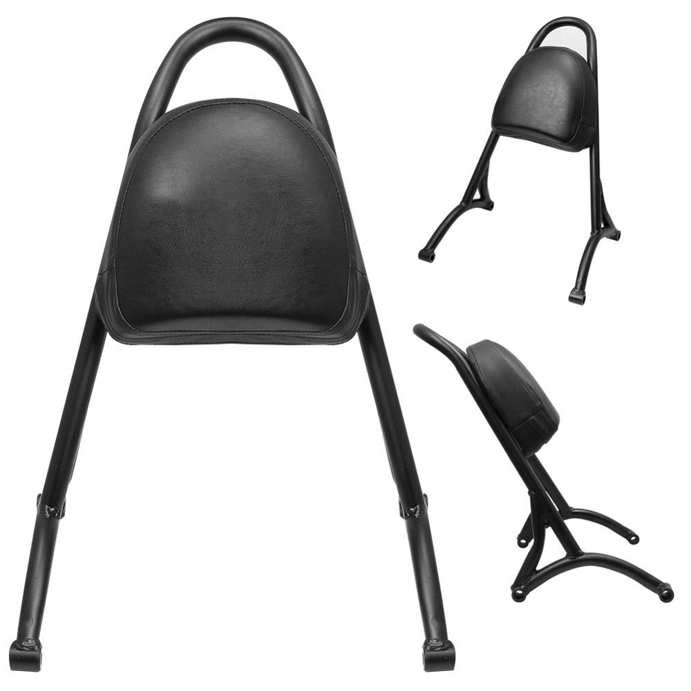Retro Motorcycle Sissy Bar <font><b>Rear</b></font> Passenger Backrest Cushion Pad Fit For Harley Sportster XL <font><b>Iron</b></font> <font><b>883</b></font> 1200 Forty Eight 2004-2016 image