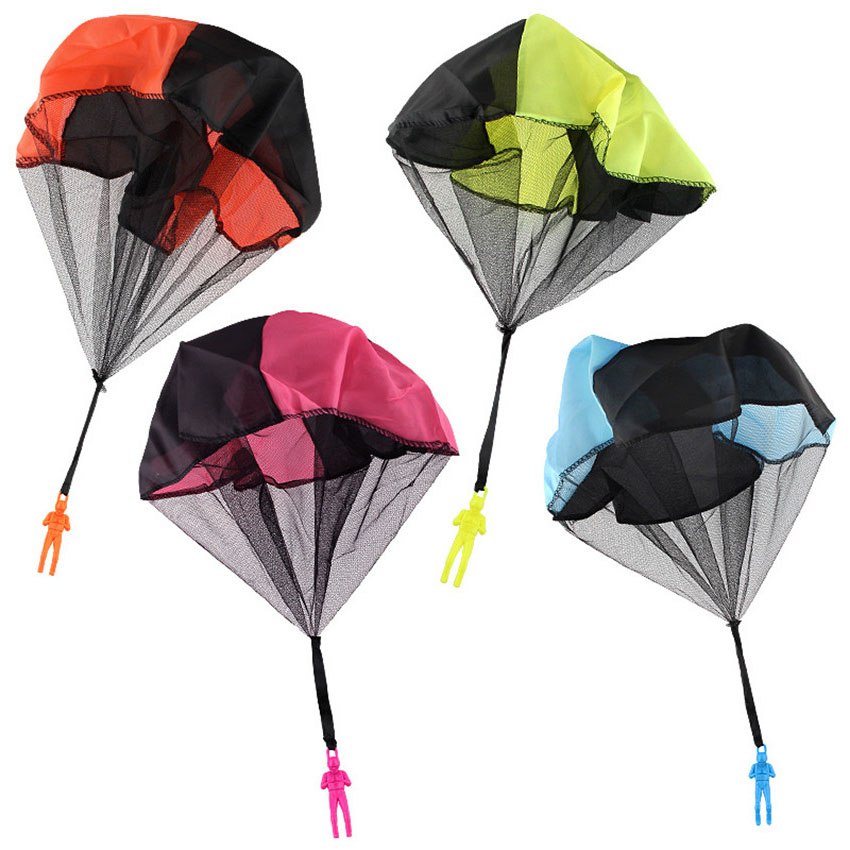 Hand Throwing Toy Kids Mini Play Parachute Toy Kids Outdoor Games Children Educational Toys Soldier Outdoor Sports For Children