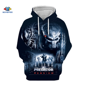 SONSPEE Movie The Predator Hoodie Man Predator Hoodies 3d Print Alien Hoody Clothes Sweatshirts Mens Clothing Harajuku Pullover