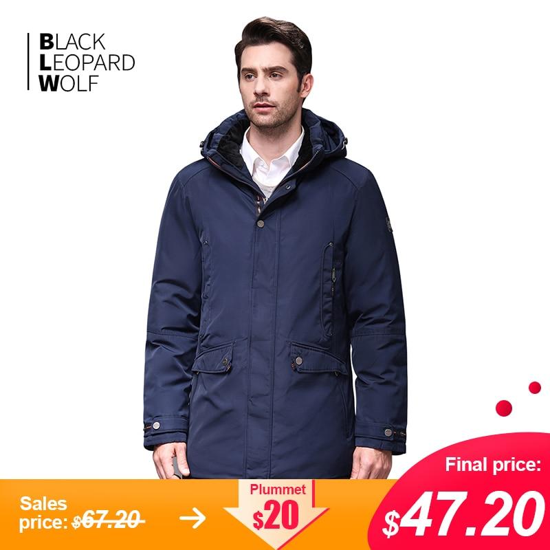 Blackleopardwolf 2019 New Arrival Winter Jacket Men Fashion Coat High Quality Thik Parka With Zipper Outwear Down Jacket BL-1052