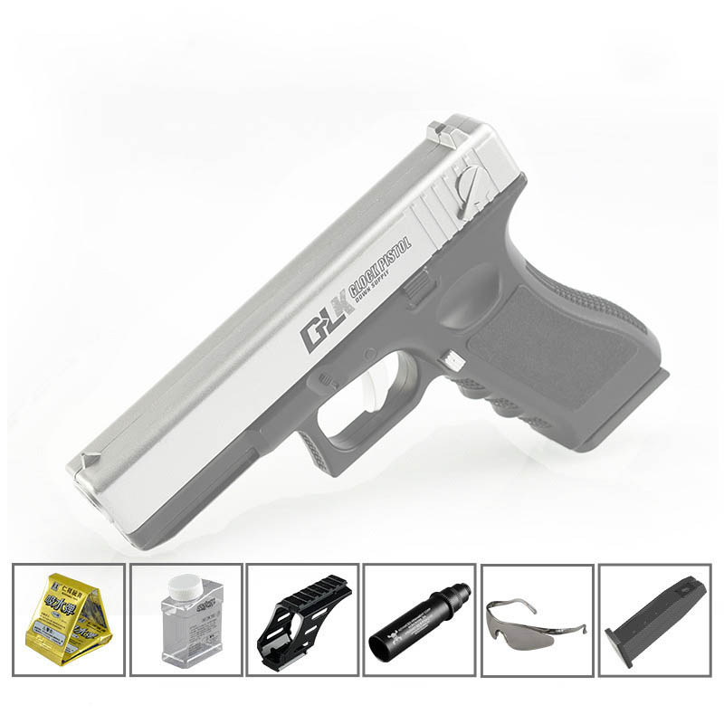 Geluoke G18 Under For Magazine Toy Gun Hand Water Gun Loaded Pistol Toy