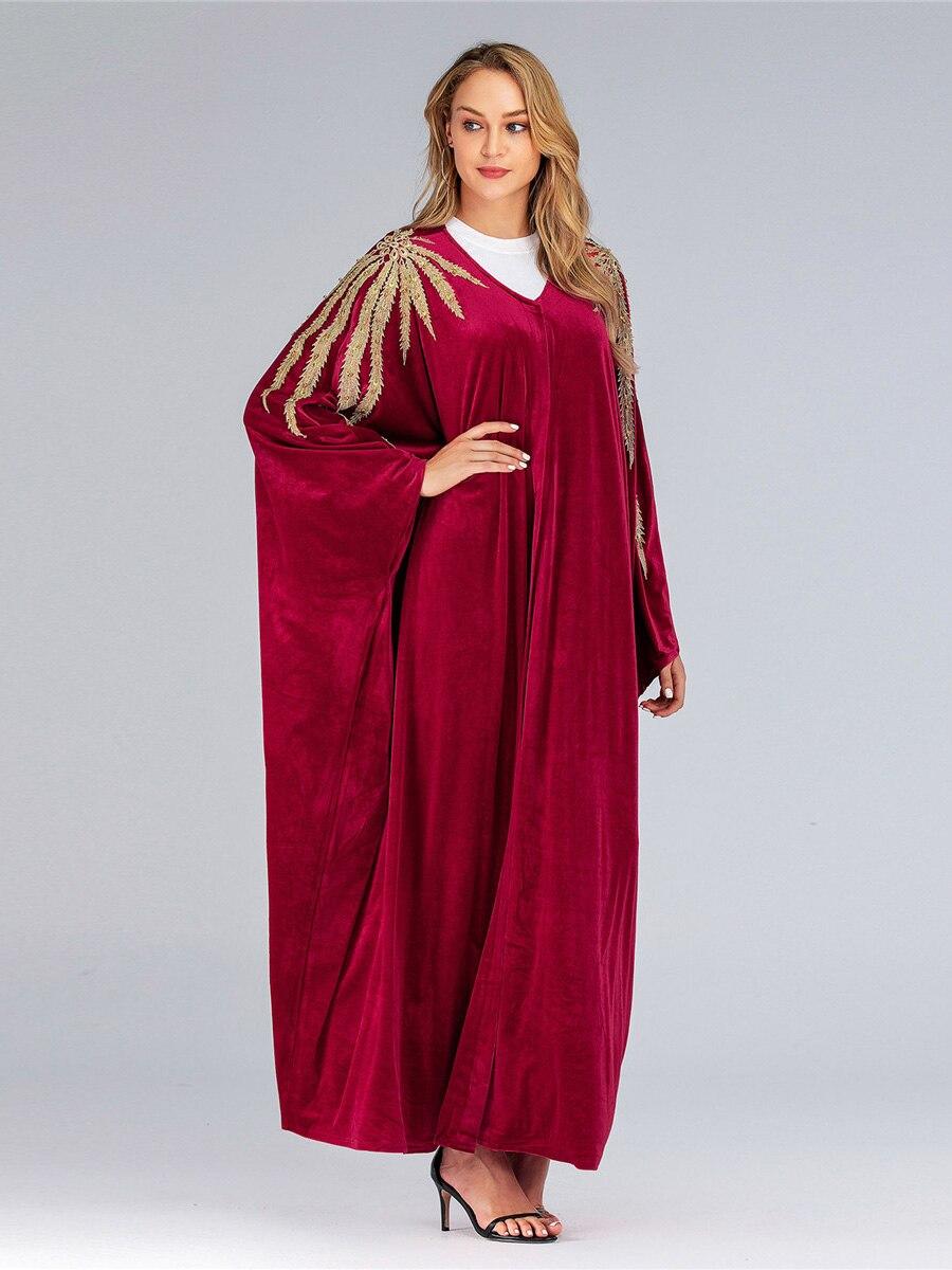 Muçulmano batwing manga moda vestido caftan abaya
