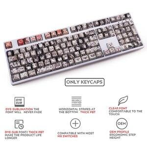 Image 2 - 108key Ahegao OEM PBT Keycaps Dye Sublimation Japanese Ukiyo e Anime keycap For Cherry Gateron Kailh Switch Mechanical Keyboard