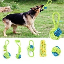 Pet Supply Dog Toys Dogs Chew Teeth Clean Outdoor Traning Fun Playing Green Rope Ball Toy For Large Small Dog Cat цены