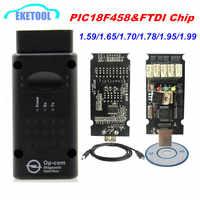 Firmware mais recente OPCOM 1.99 1.95 1.78 1.70 1.65 OBD2 CAN-BUS Code Reader Para Opel OP com Diagnóstico OP-COM PIC18F458 FTDI Chip