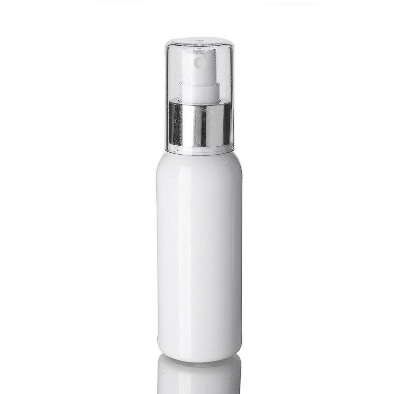 10Pcs 100Ml Spray Bottle Empty White Fine Mist Travel Atomiser - Refillable & Reusable Mini Travel Bottles