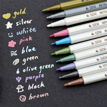10 Colors/set Highlighters Marker Pens Water Chalk Pen for Scrapbook Photo Album Drawing Watercolor Drawing Stationery