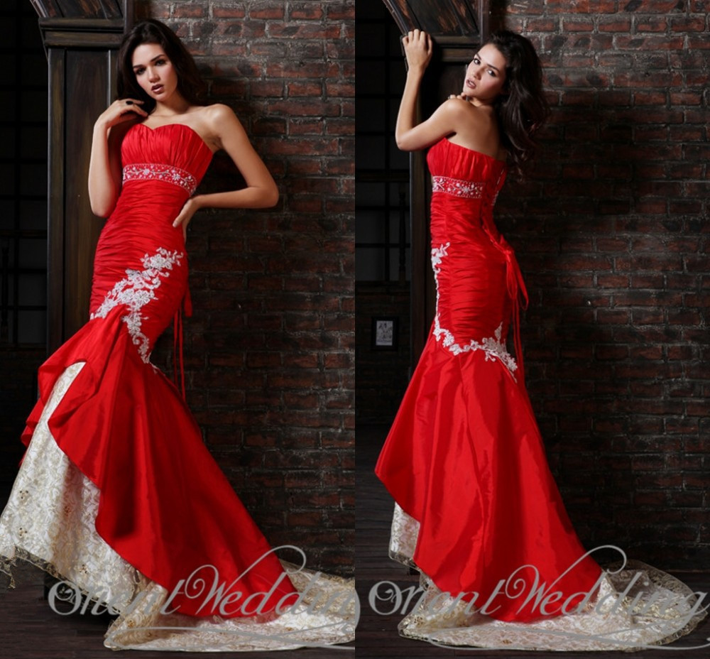 2015 New Sexy Actual Image Party Trumpet Mermaid Sweetheart Beading Taffeta Lace Applique Pleat Long Prom Dresses Evening Gown
