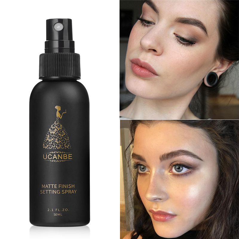 Makeup Setting Spray 50ML Dewy Matte Finish Bottle Setting Spray Oil-control Natural Long Lasting Make Up Fix Foundation Spray image