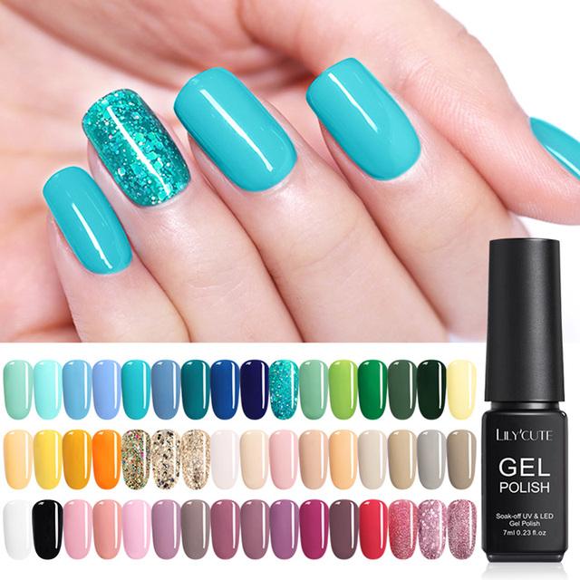 LILYCUTE 7ml DeepSky Glitter UV Nail